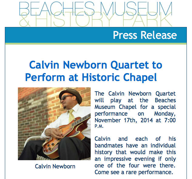 Calvin Newborn Plays The Beaches
