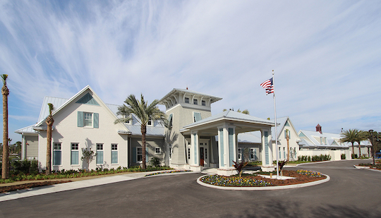 Atlantic Beach Country Club Clubhouse from Montello